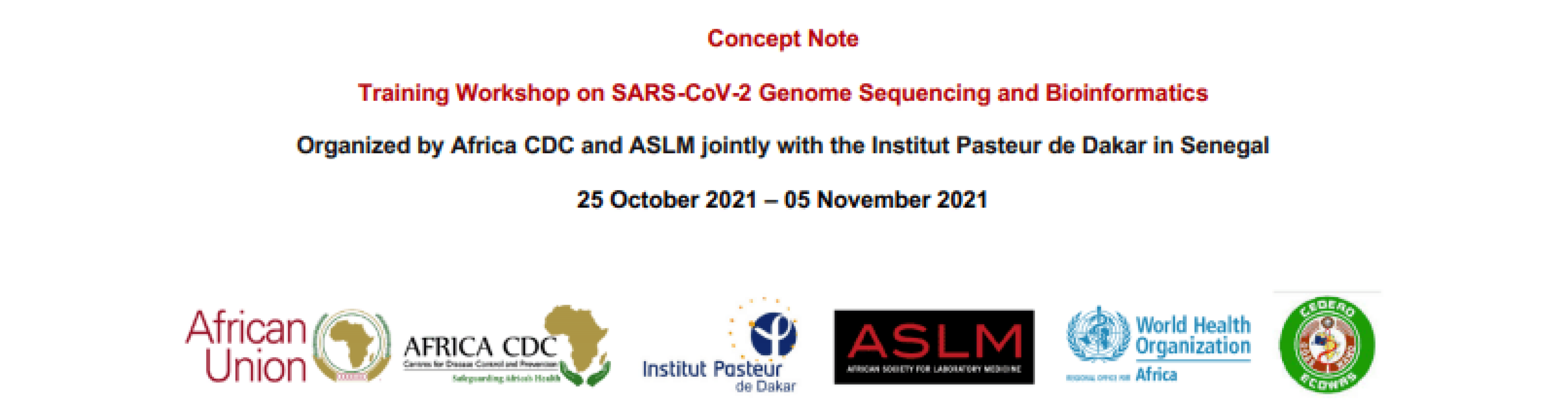 Training Workshop on SARS-CoV-2 Genome Sequencing and Bioinformatics